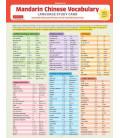 Mandarin Chinese Vocabulary Language Study Card (Con download gratuito degli audio)
