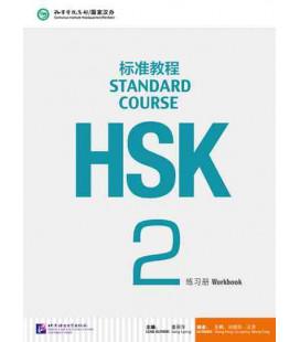 HSK Standard Course 2- Workbook (Livre + CD MP3) Série de livres de texte basée sur l'HSK