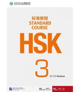 HSK Standard Course 3- Workbook (Livre + CD MP3) Série de livres de texte basée sur l'HSK