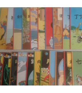 Tintín- Pack des 22 livres (Version en chinois simplifié)