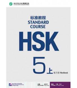 HSK Standard Course 5A (Shang)- Workbook (Livre + CD MP3) Série de livres de texte basée sur l'HSK