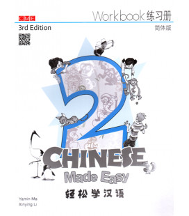 Chinese Made Easy 2 (3rd Edition)- Workbook (Includes QR Code for audio download)