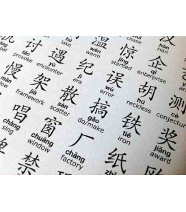 The Eco-Portrait Poster (The 1000 most frequently Chinese Characters pinyin and English definitions)
