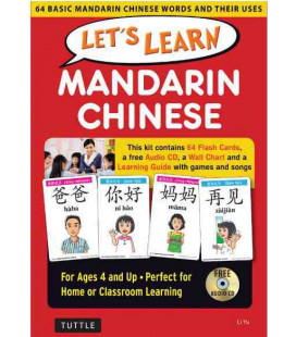 Let's Learn Mandarin Chinese Kit (64 Basic Mandarin Chinese Words and their Uses)- Dai 4 anni in su