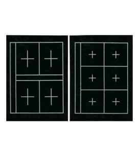 Feutrine d'appui pour la Calligraphie Kuretake KA23101 (36*27 cm - double face, 6 et 4 carrés sur chaque côté)