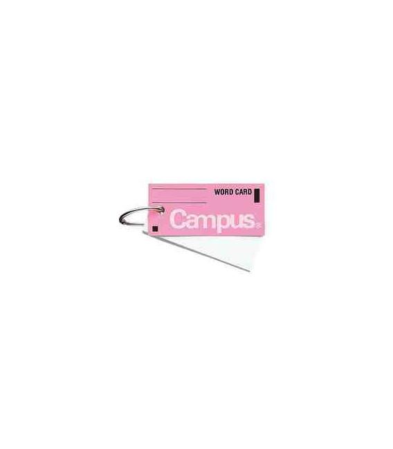 Mini tarjetas de vocabulario - Campus Kokuyo (85 hojas-Tapa color rosa)