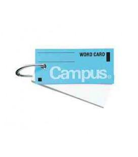 Mini cartes de vocabulaire - Campus Kokuyo (85 feuilles - Couverture couleur bleu clair)