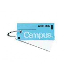 Mini vocabulary cards - Campus Kokuyo (85 sheets - blue)