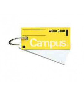Mini cartes de vocabulaire - Campus Kokuyo (85 feuilles-Tapa couleur amarillo)