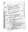 Maruman Mnemosyne Notebook N195A (Format A5) - Ligné 7 mm