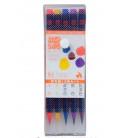 Akashiya Watercolore Brush Pen Sai 5 Colors Set (Autumn)