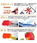 Akashiya Watercouleur Brush Pen Sai 5 Colors Set (Winter)