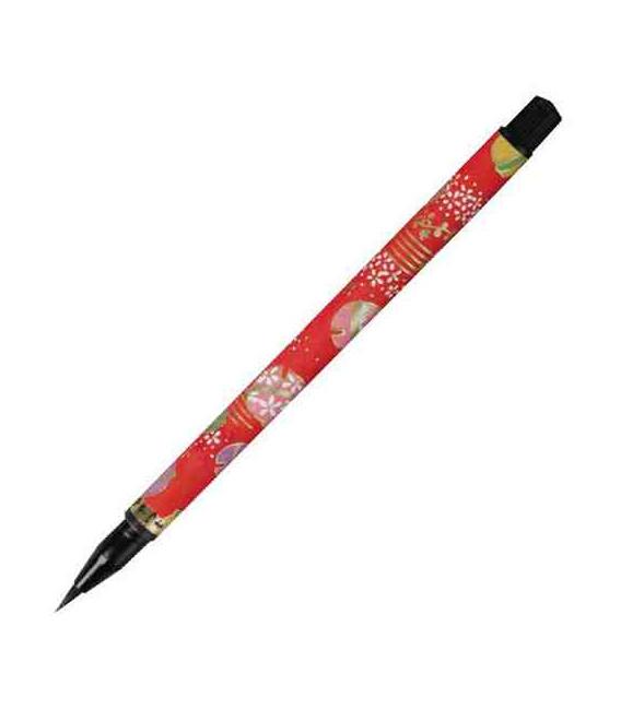 "Akashiya ""Koto"" brush pen (The design will be chosen randomly from 7 different models)"