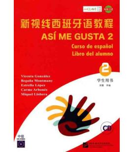 Así Me Gusta 2 (Curso de español - Libro del alumno)- CD incluso
