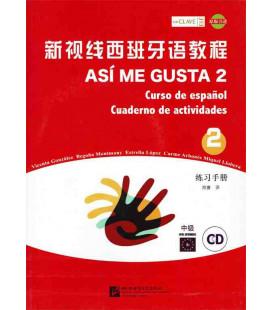 Así Me Gusta 2 (Curso de español - Cuaderno de actividades) - CD incluso