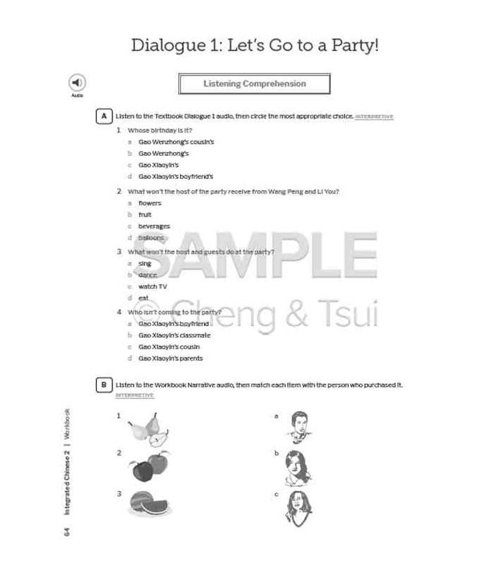 Integrated Chinese Volume 2 Workbook Paperback