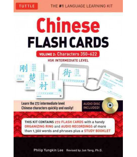 Chinese Flash Cards - Volume 2: Characters 350-622: Hsk Intermediate Level (HSK Levels 3&4)