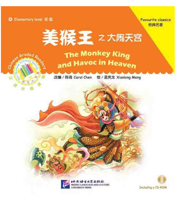 The Monkey King and Havoc in Heaven - Chinese Graded Readers (Elementary) CD Incluso